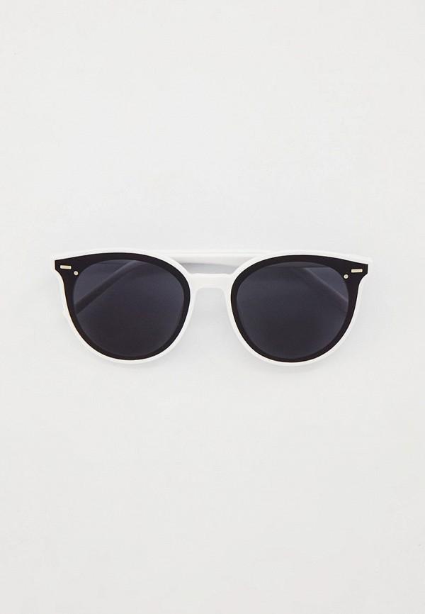 женские круглые солнцезащитные очки keddo, белые