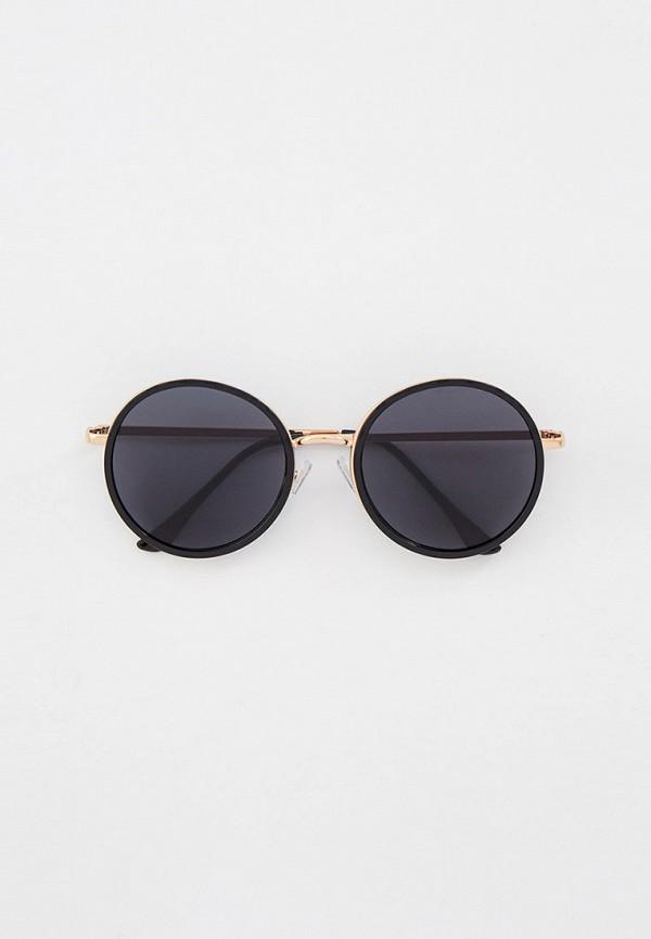 женские круглые солнцезащитные очки keddo, черные