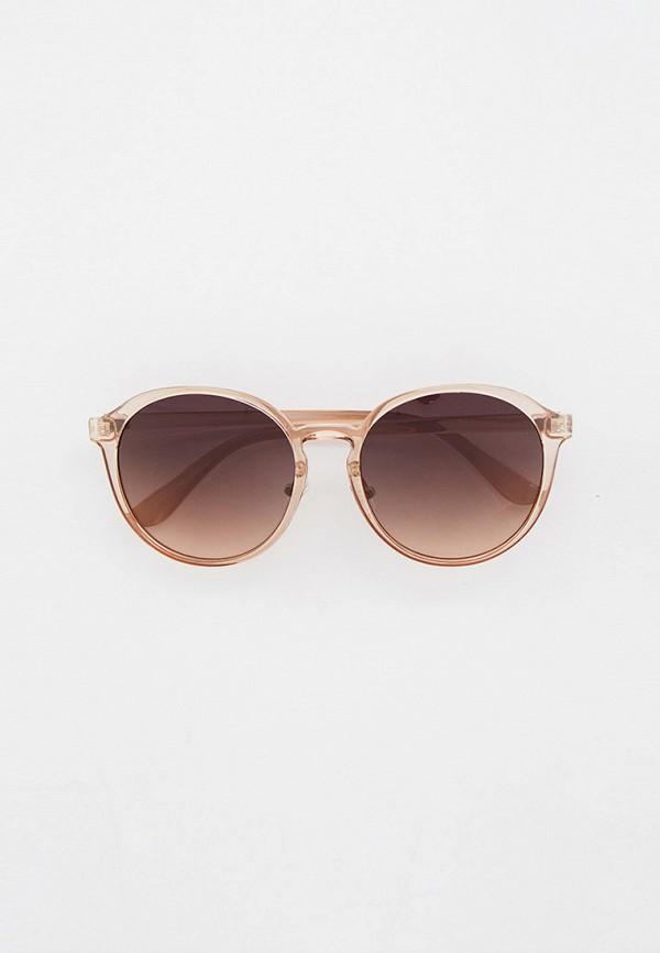 женские круглые солнцезащитные очки keddo, бежевые