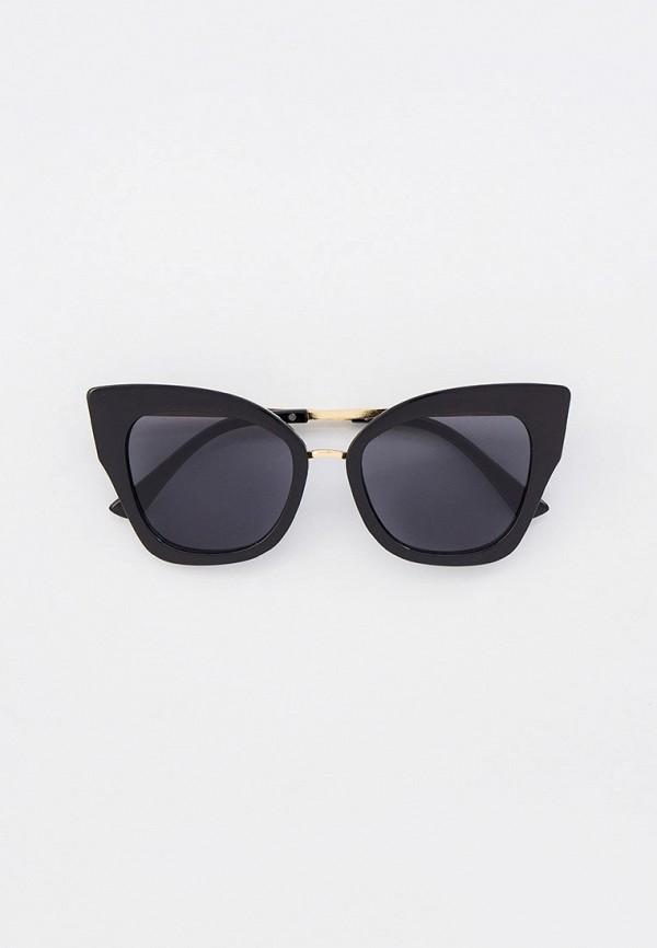 женские солнцезащитные очки кошачьи глаза keddo, черные