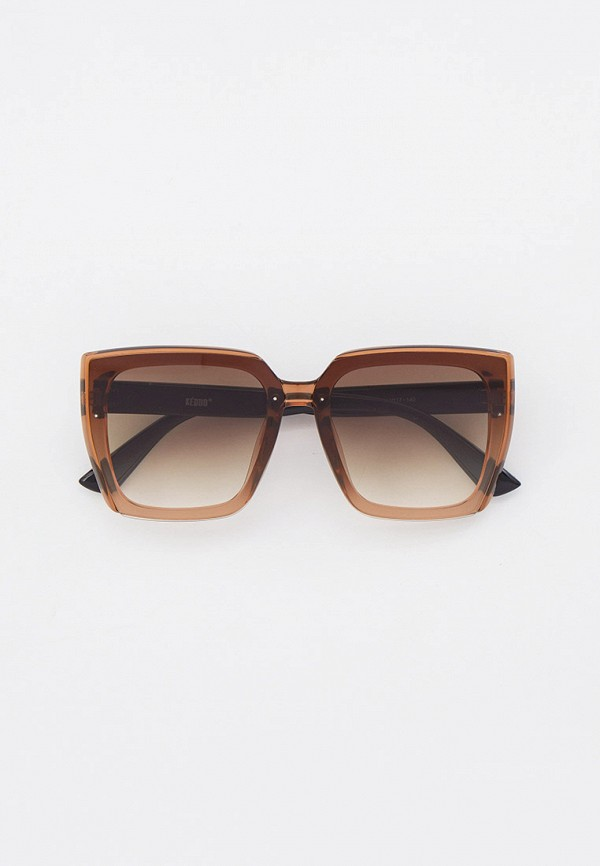 женские квадратные солнцезащитные очки keddo, коричневые