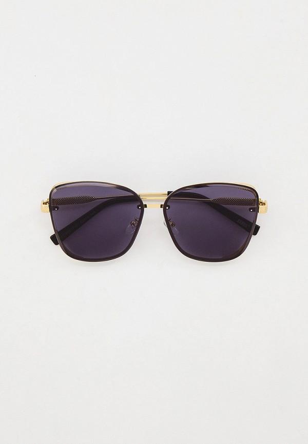 женские солнцезащитные очки кошачьи глаза keddo, золотые