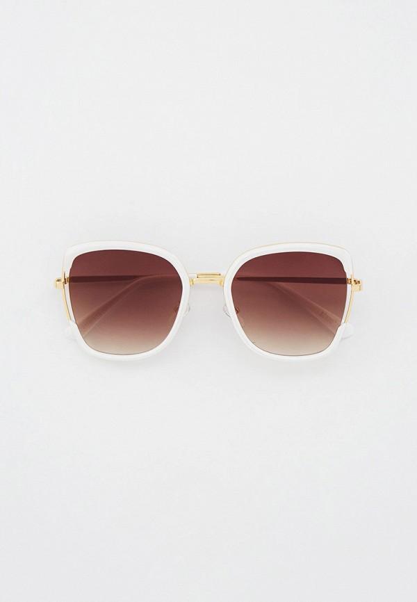 женские квадратные солнцезащитные очки keddo, белые