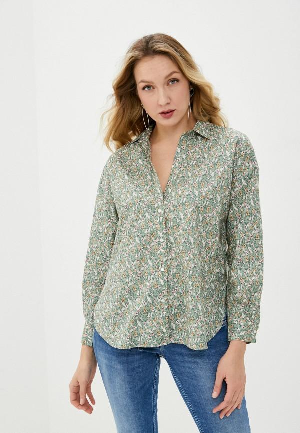 женская рубашка с длинным рукавом baon, зеленая