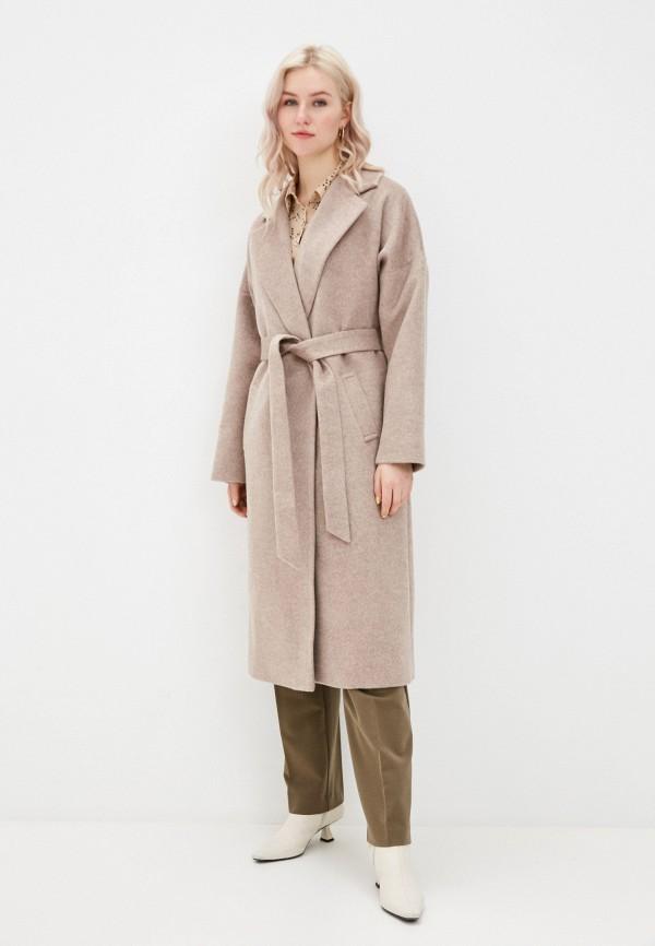 женское пальто wolfstore, бежевое