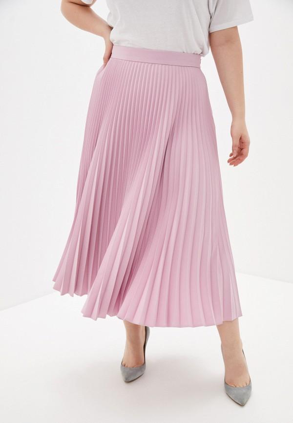 женская плиссированные юбка charisma, розовая