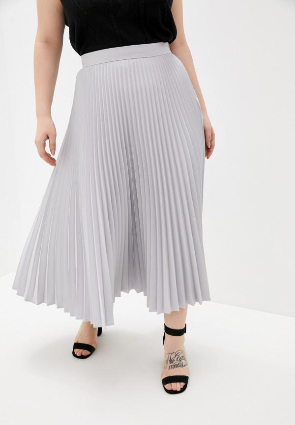 женская плиссированные юбка charisma, серая