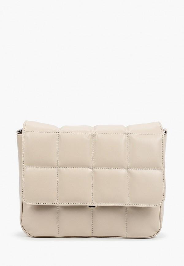 женская сумка через плечо afina, белая