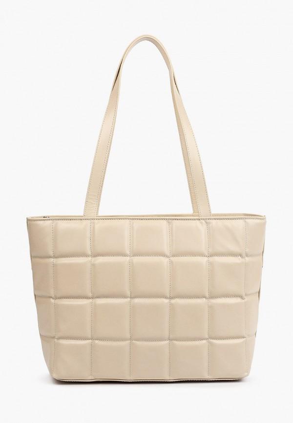 женская сумка-тоут afina, бежевая