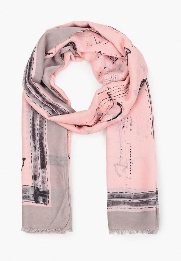 женский палантин laura milano, розовый