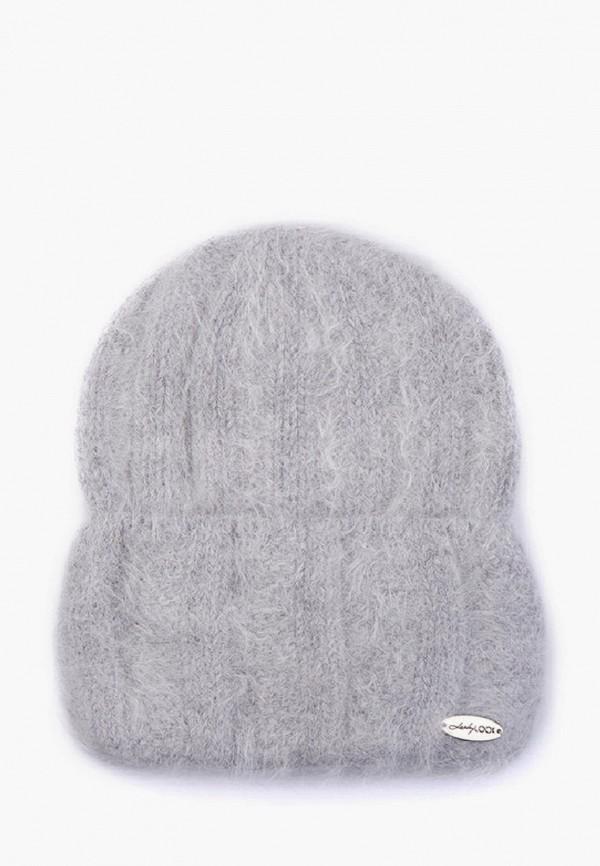 женская шапка luckylook, серая