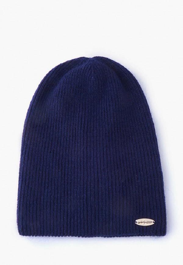 женская шапка luckylook, синяя