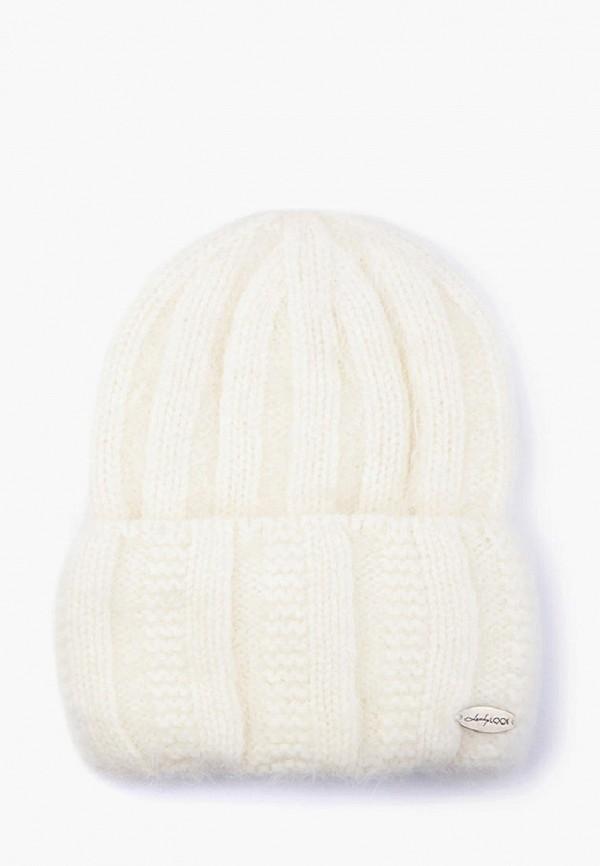 женская шапка luckylook, белая