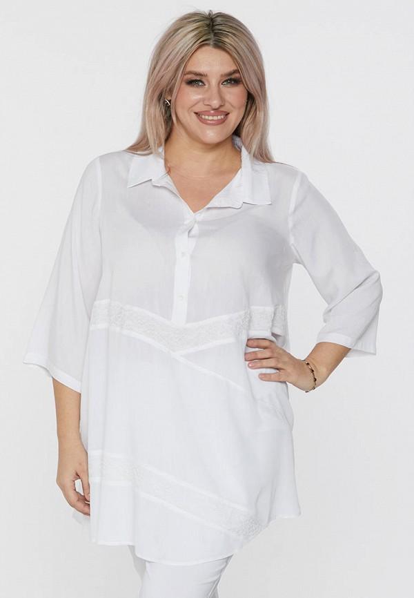 женская блузка с длинным рукавом luxury plus, белая
