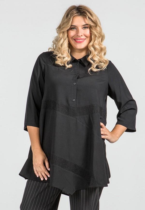женская блузка с длинным рукавом luxury plus, черная