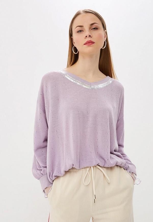женский пуловер patrizia pepe, фиолетовый