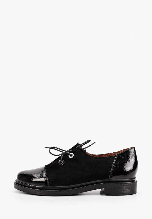 женские ботинки-оксфорды francesco donni, черные