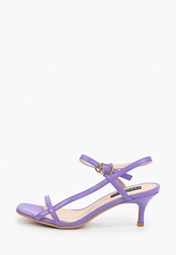 женские босоножки lera nena, фиолетовые