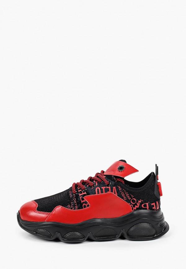 женские низкие кроссовки tuffoni, красные