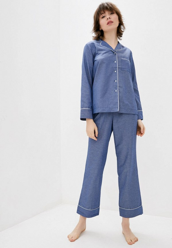 женская пижама jhiva, голубая