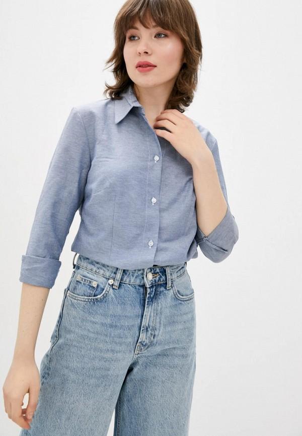 женская рубашка с длинным рукавом jhiva, голубая