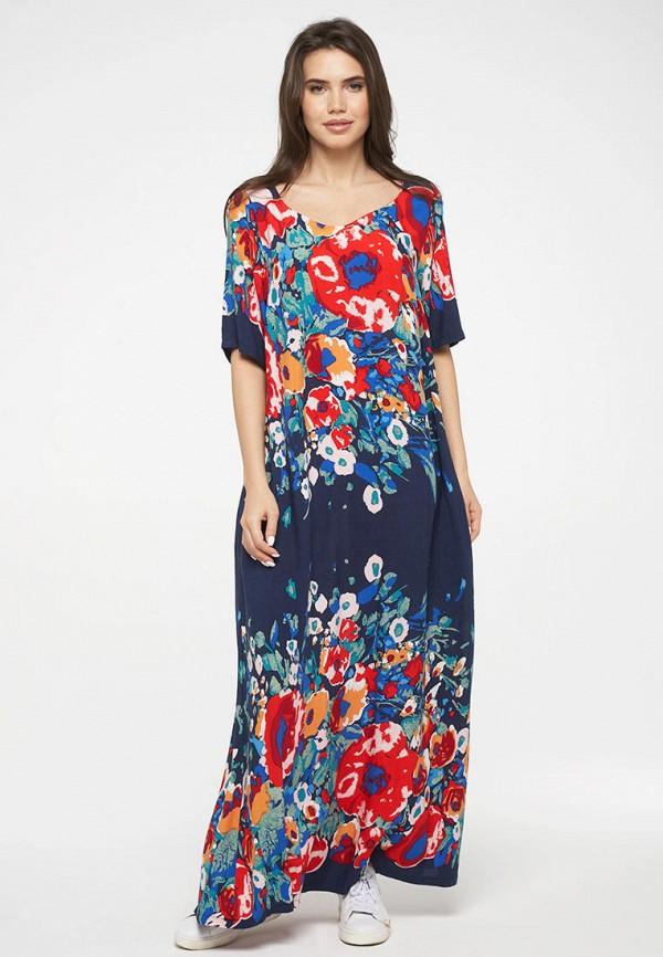 женское повседневные платье vay, синее