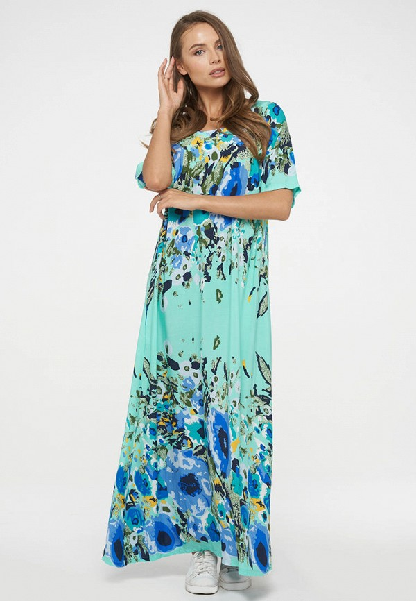 женское повседневные платье vay, бирюзовое
