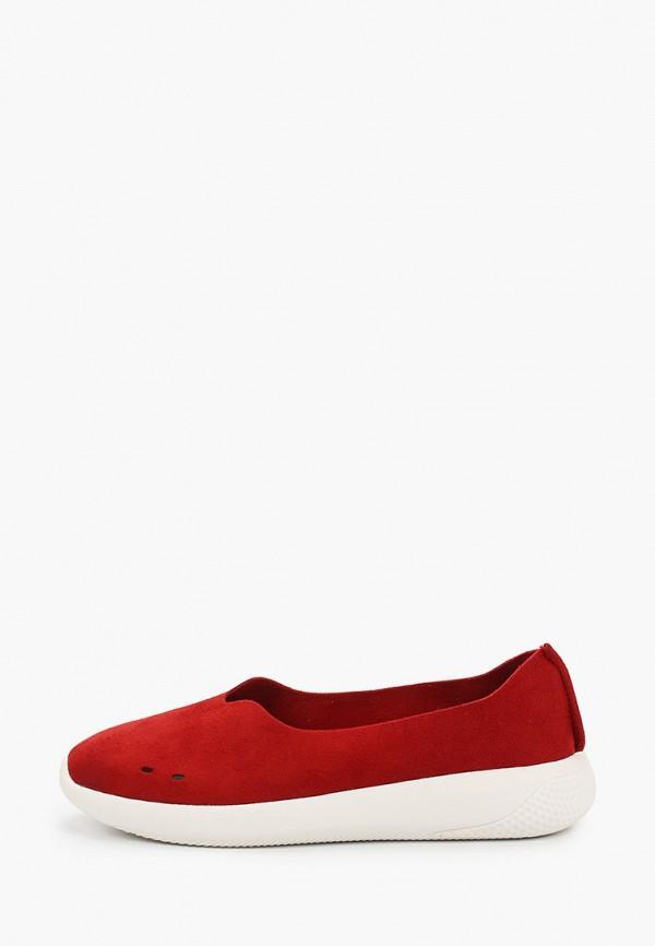 женские низкие слипоны grunberg, красные