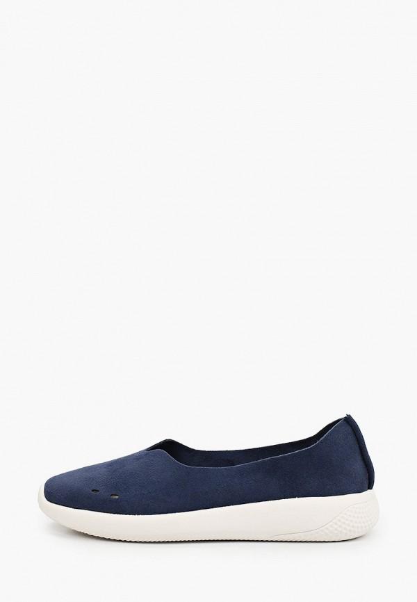 женские низкие слипоны grunberg, синие