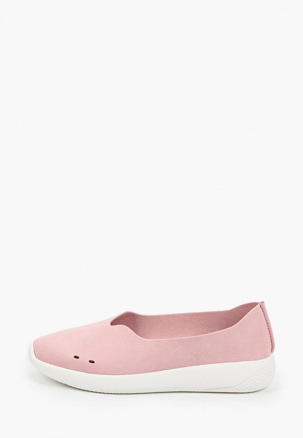 женские низкие слипоны grunberg, розовые