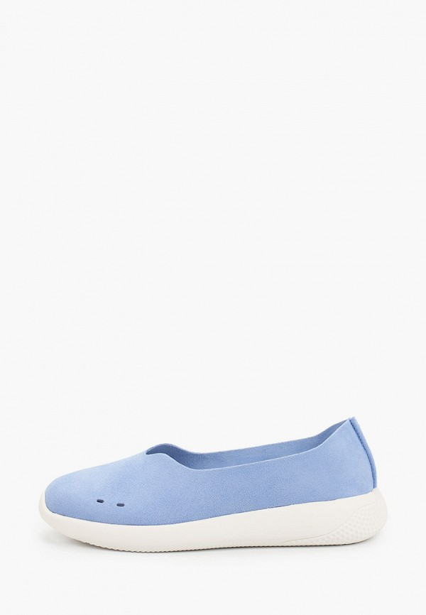 женские низкие слипоны grunberg, голубые