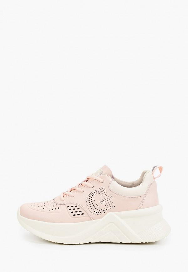 женские низкие кроссовки grunberg, розовые