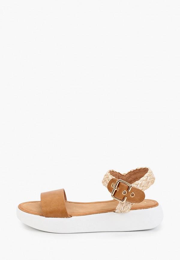 женские сандалии betsy, коричневые