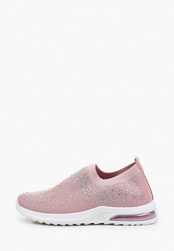 женские низкие кроссовки crosby, розовые