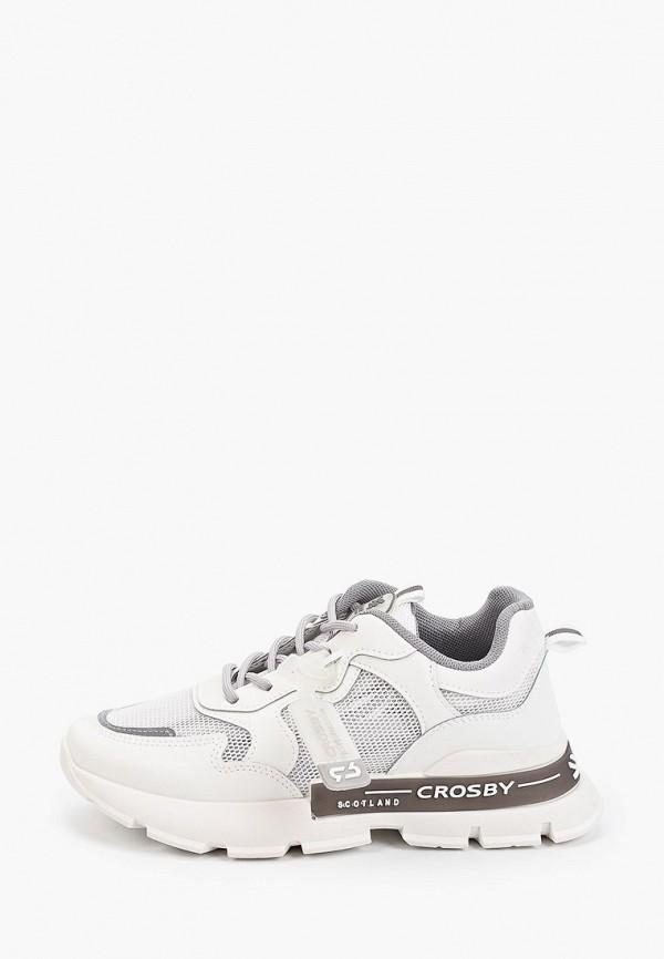 женские низкие кроссовки crosby, белые