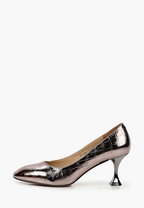 женские туфли с закрытым носом mascotte, золотые