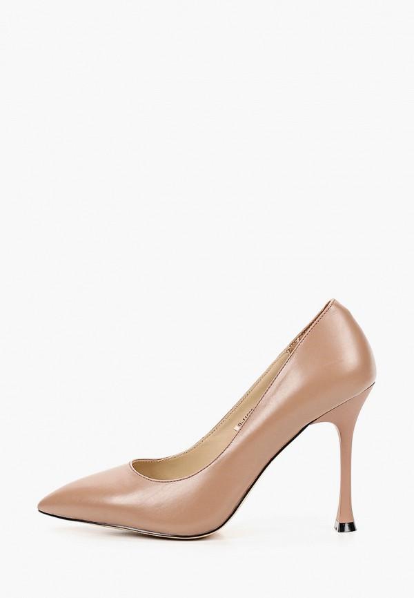женские туфли-лодочки mascotte, коричневые