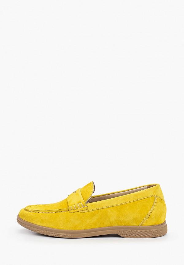 женские лоферы mascotte, желтые