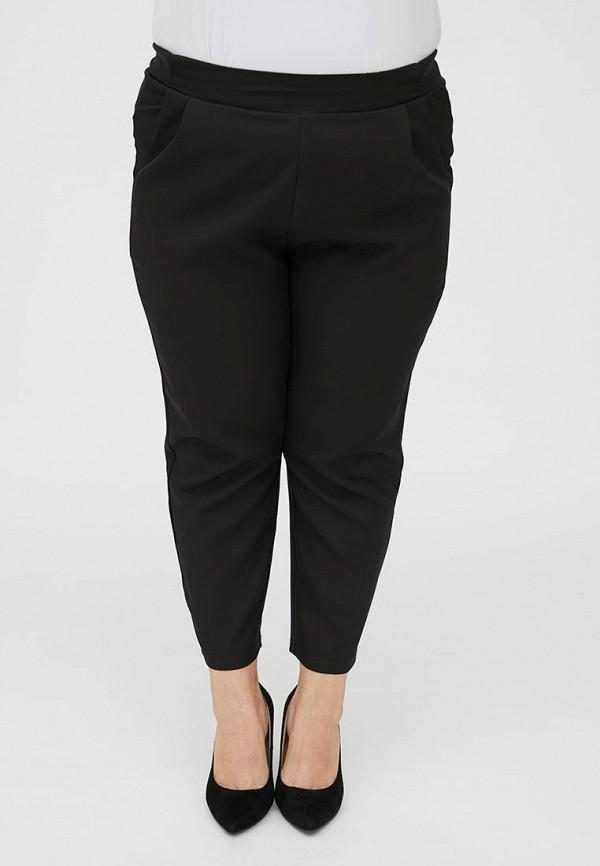 женские зауженные брюки luxury plus, черные