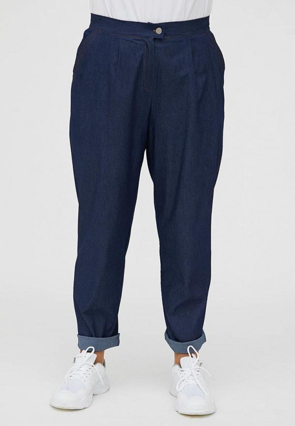 женские повседневные брюки luxury plus, синие
