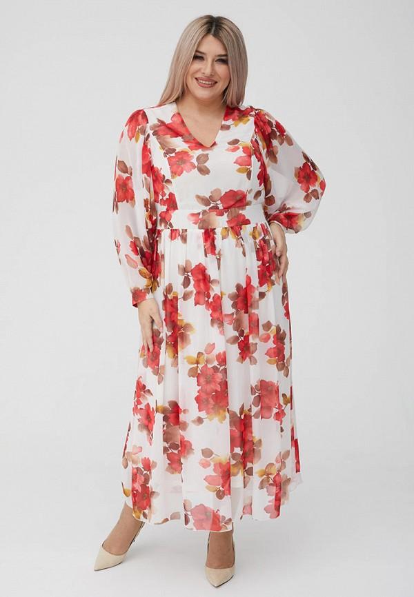 женское вечерние платье luxury plus, белое