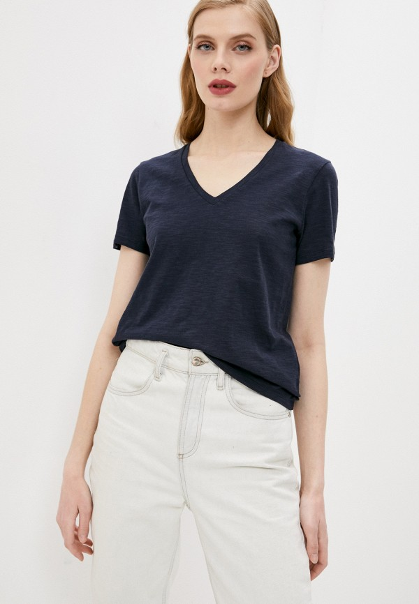 женская футболка boss, синяя