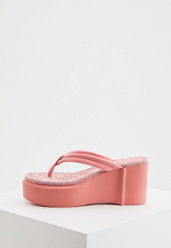 женское сабо coach, розовое