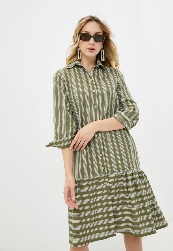 женское платье-рубашки alina assi, хаки