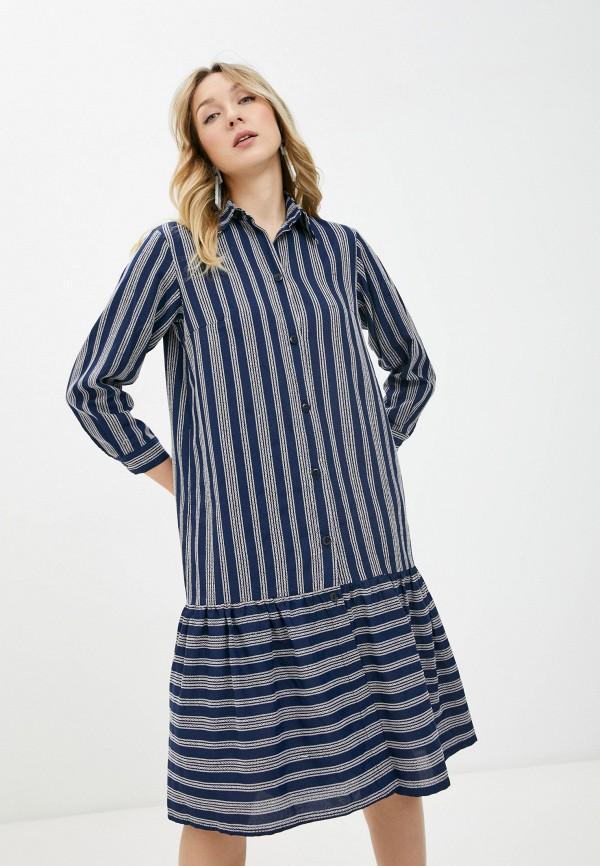 женское платье-рубашки alina assi, синее