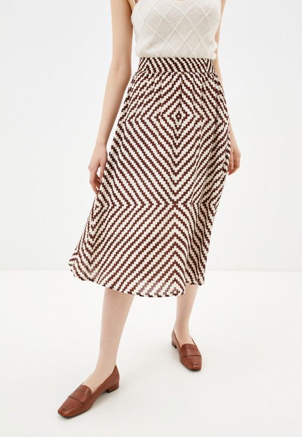 женская юбка-трапеции alina assi, белая