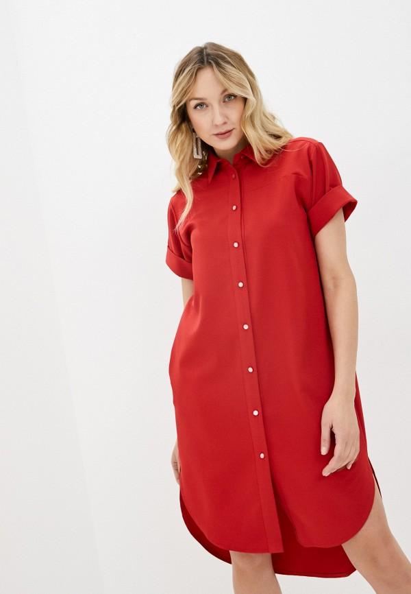 женское платье-рубашки alina assi, красное