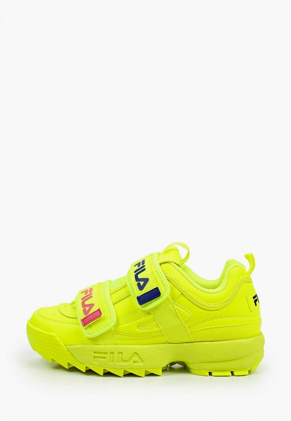 женские низкие кроссовки fila, желтые