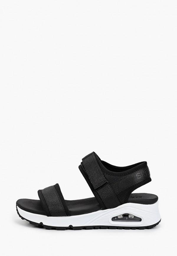женские сандалии skechers, черные