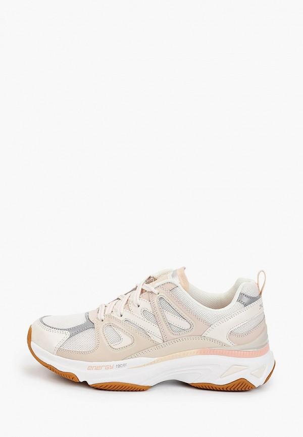 женские низкие кроссовки skechers, бежевые
